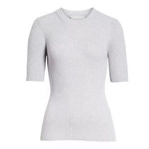 3.1 Phillip Lim Ribbed Short Sleeve Sweater XS